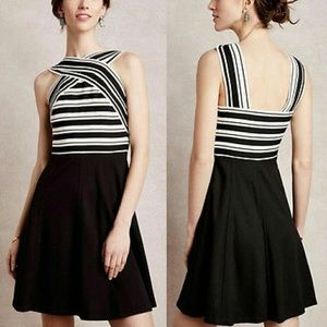 Anthropologie Crosswise Flare Dress Size 12